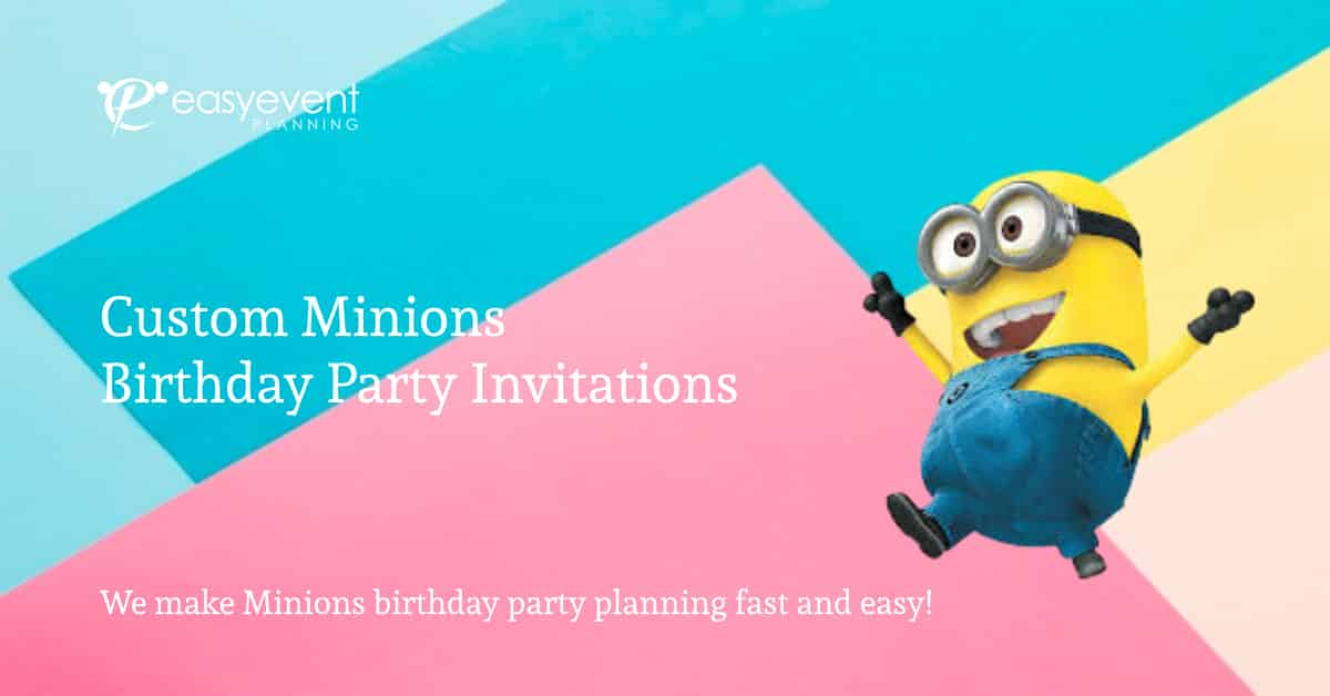 Minions Birthday Party Invitations