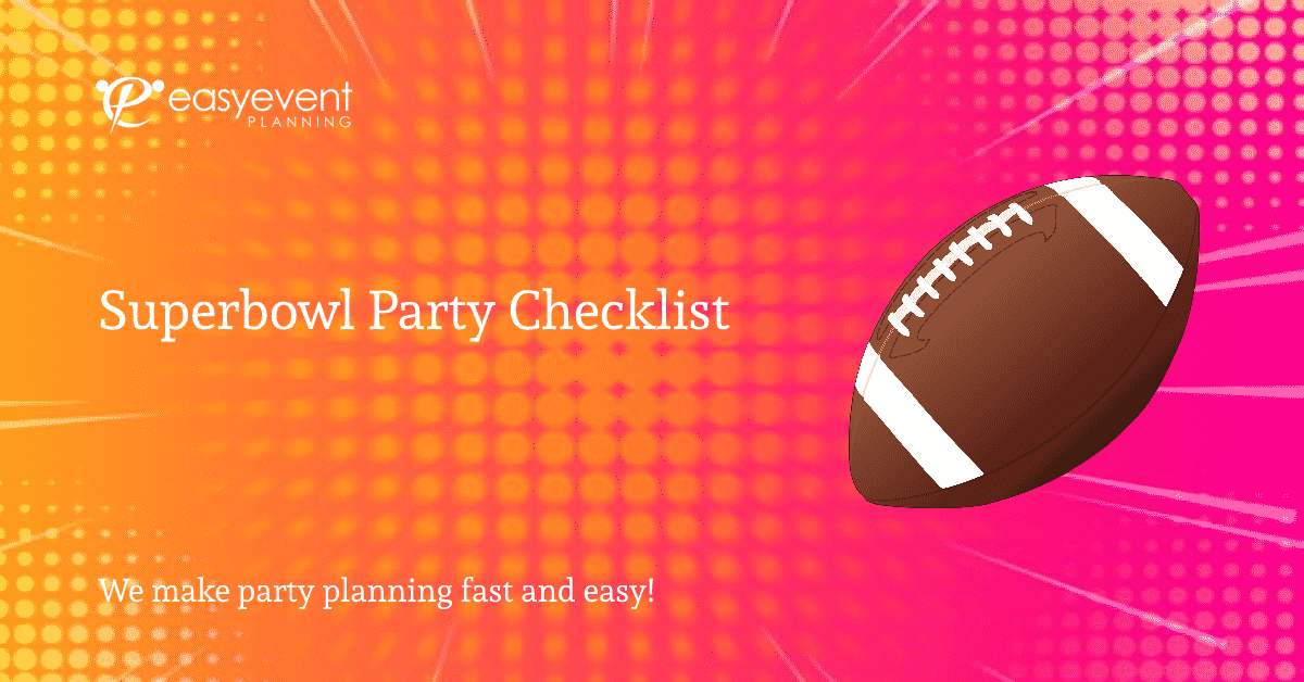 Superbowl Party Checklist