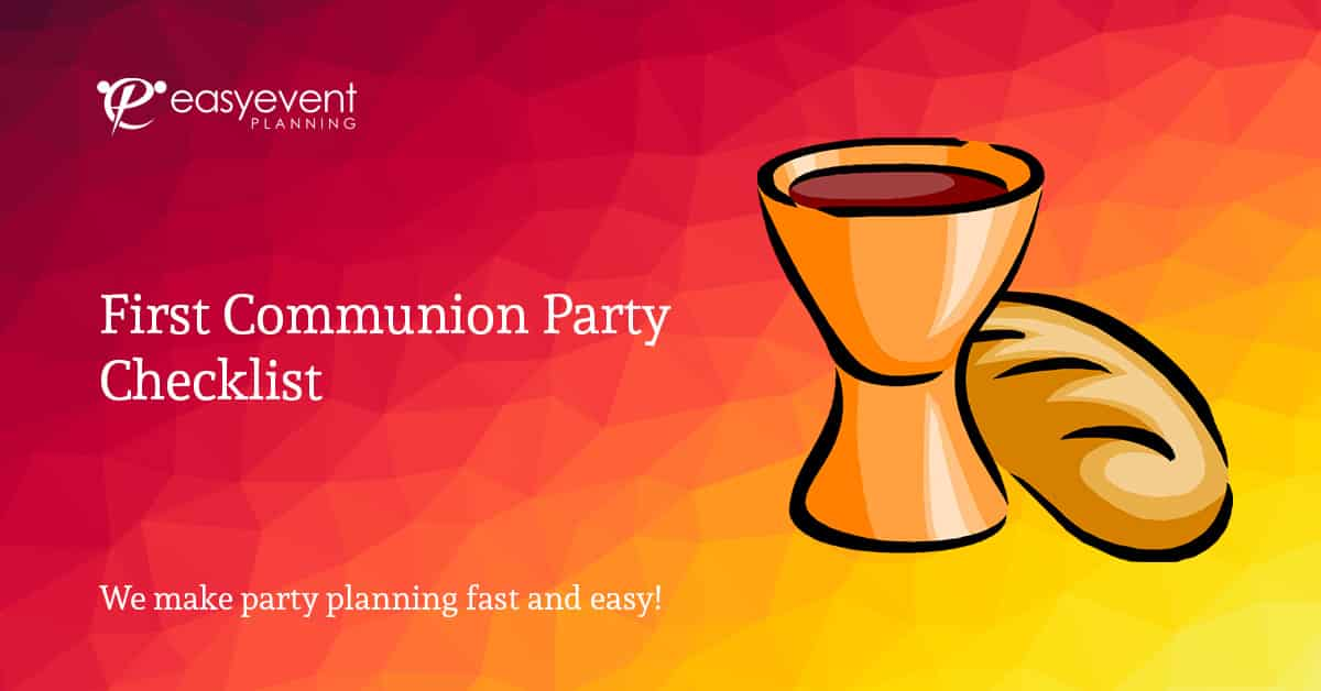 first communion party checklist