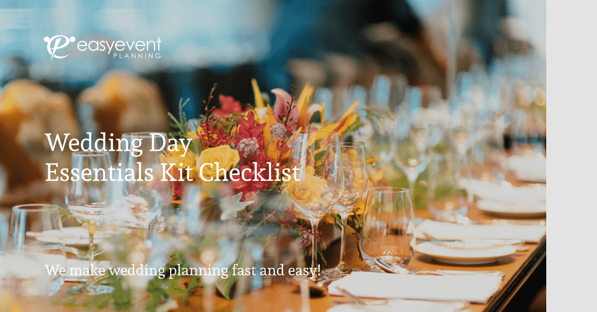 Wedding Day Essentials Kit Checklist