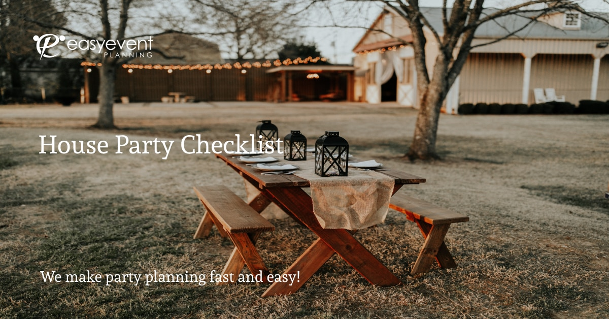 House Party Checklist