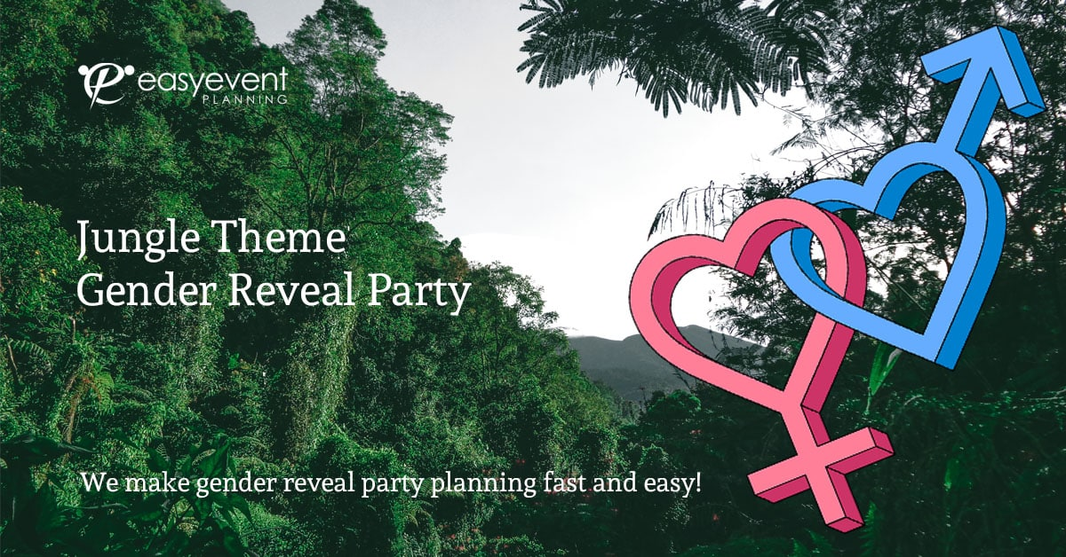 Jungle Theme Gender Reveal Party