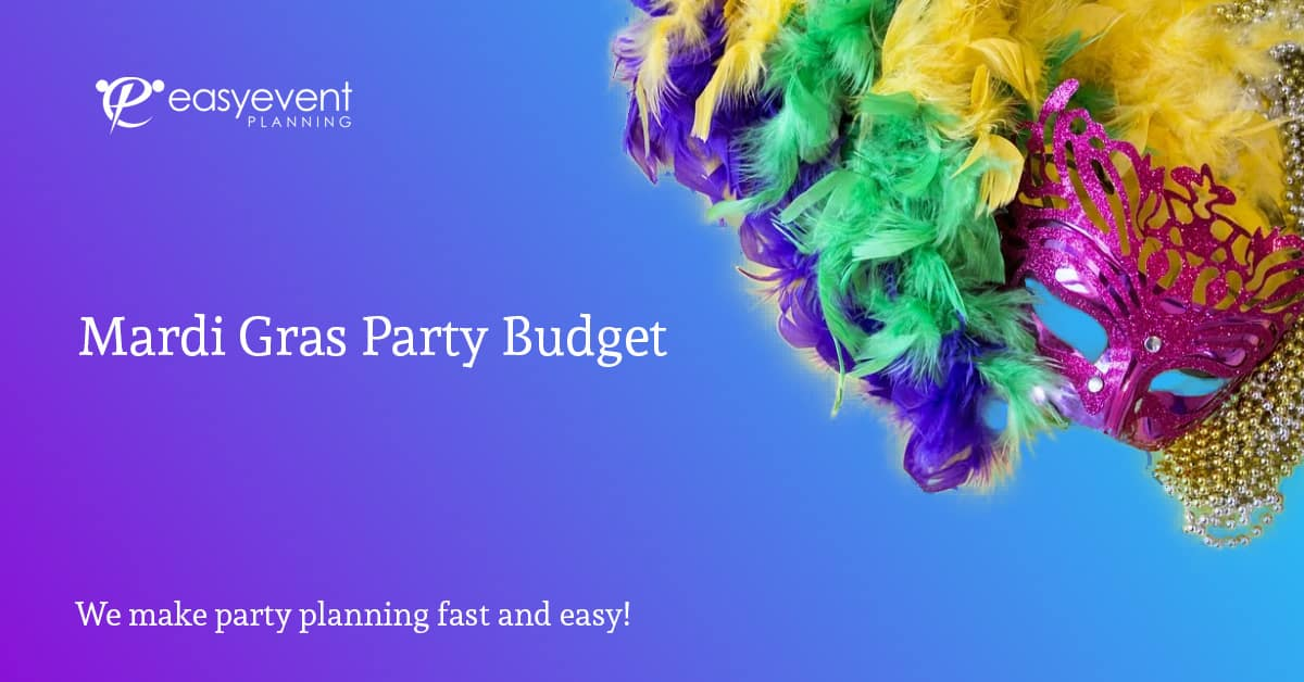 Mardi Gra Party Budget Worksheet