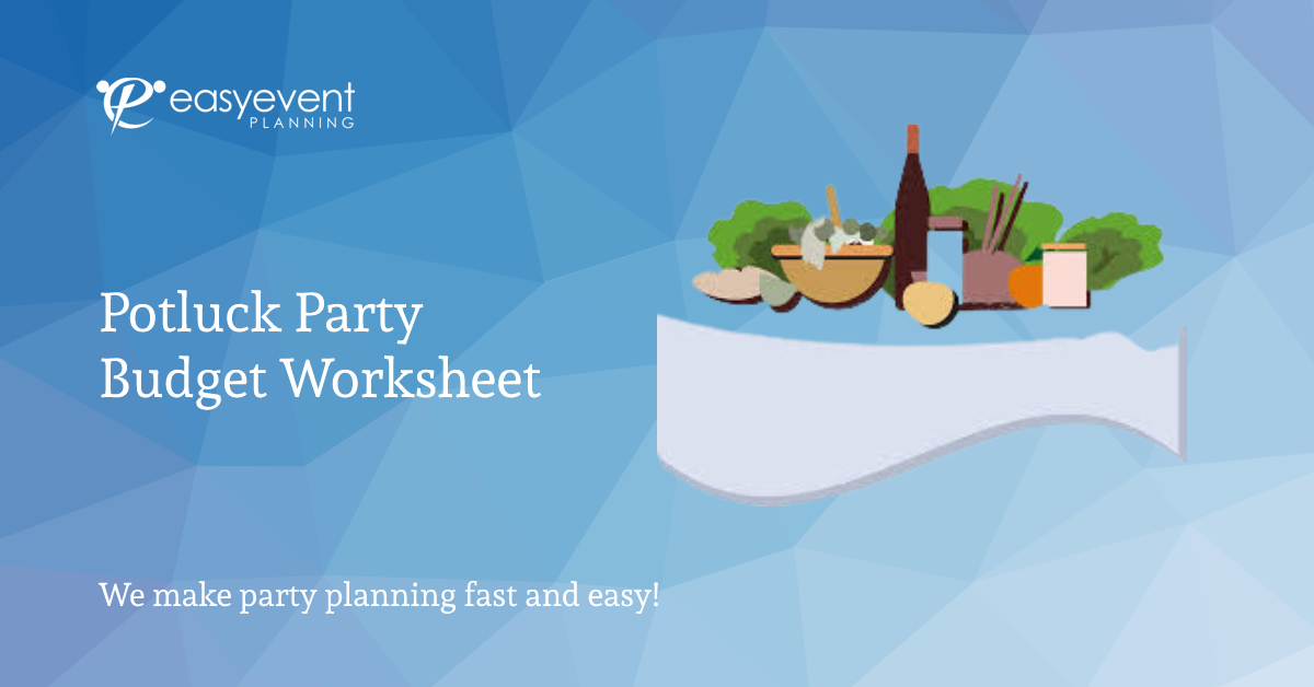 Potluck Party Budget Worksheet