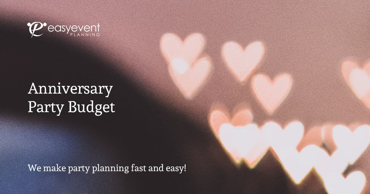 Anniversary Party Budget Worksheet