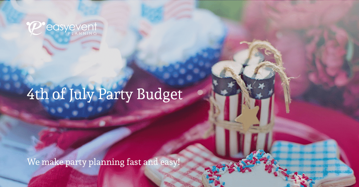 4th of July Party Budget Worksheet