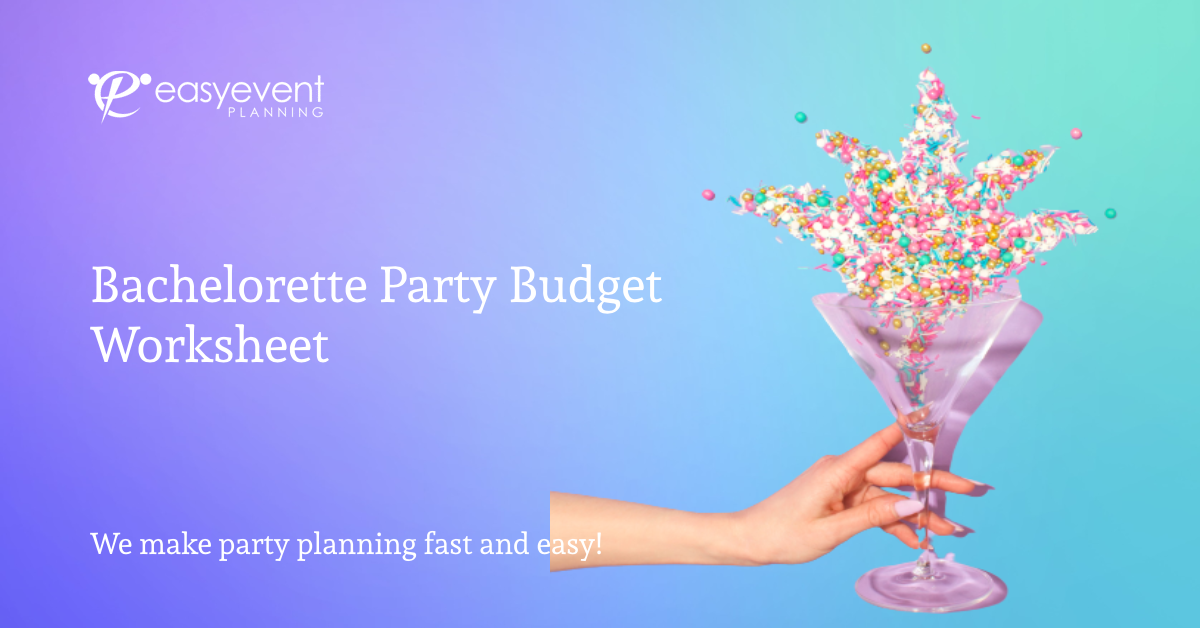 Bachelorette Party Budget Worksheet