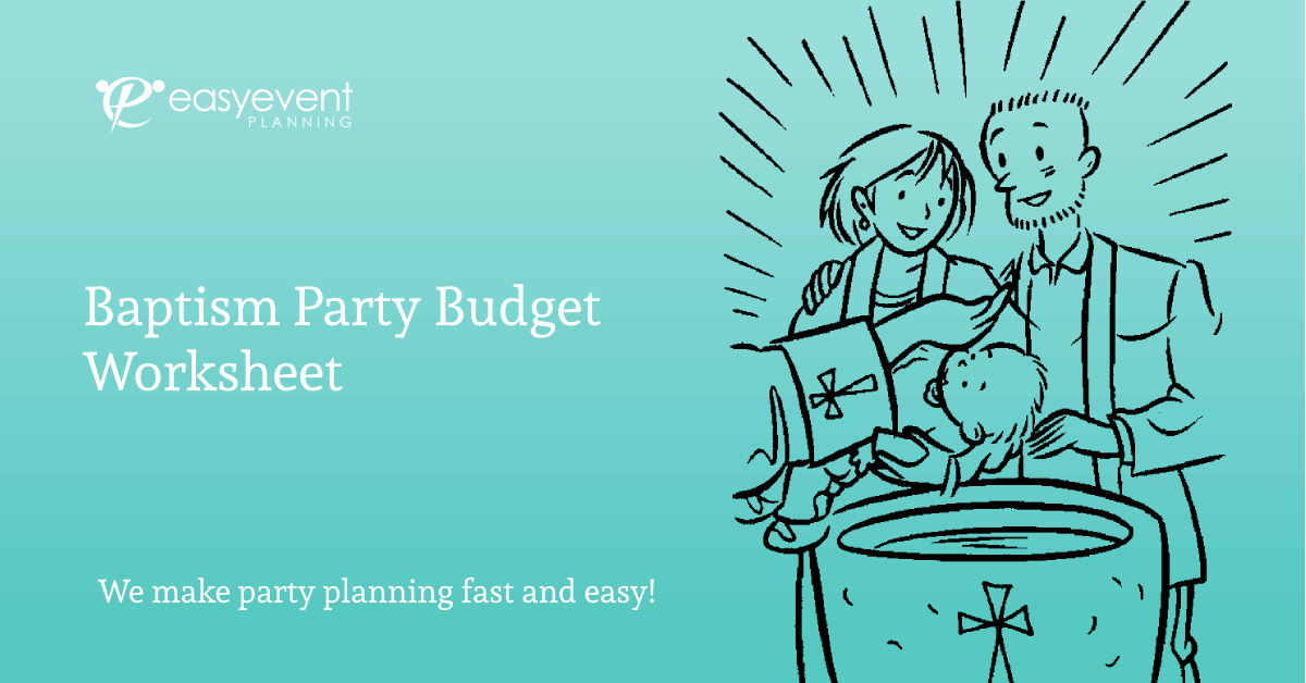 Baptism Party Budget Worksheet
