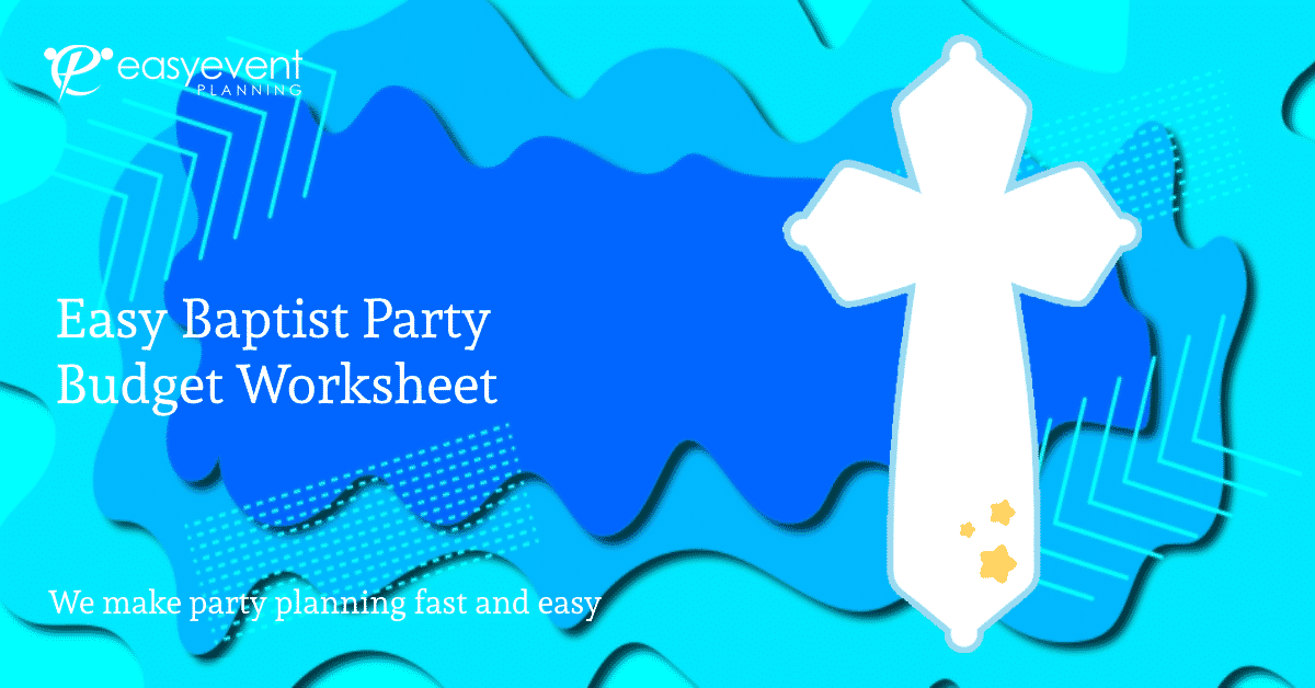 baptist party budget worksheet