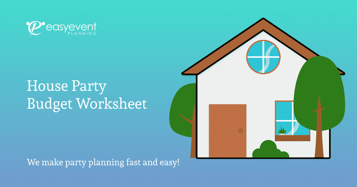 House Party Budget Worksheet