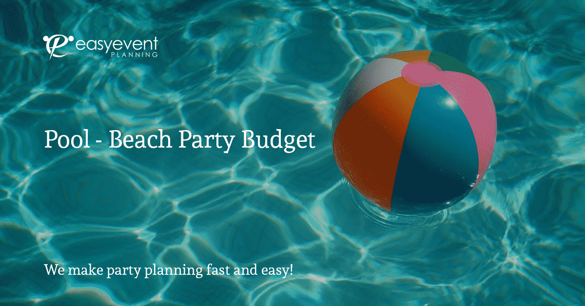 Easy Pool Party Budget Worksheet