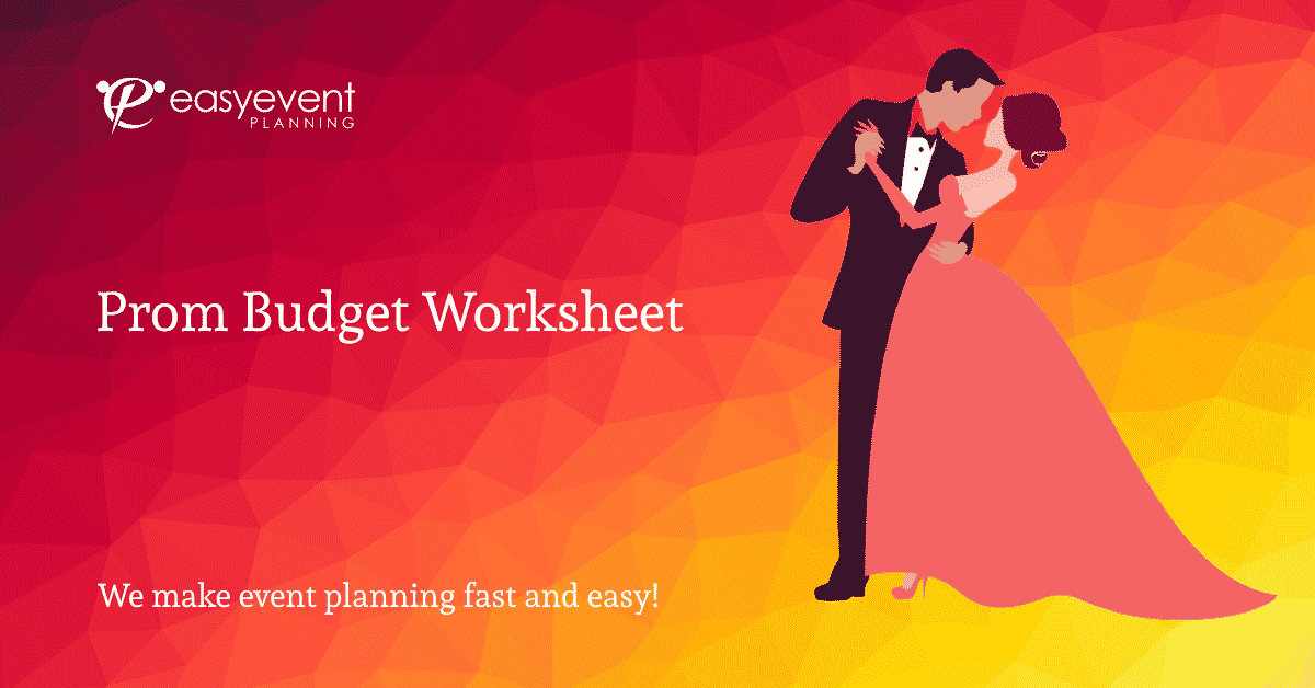Prom Budget Worksheet
