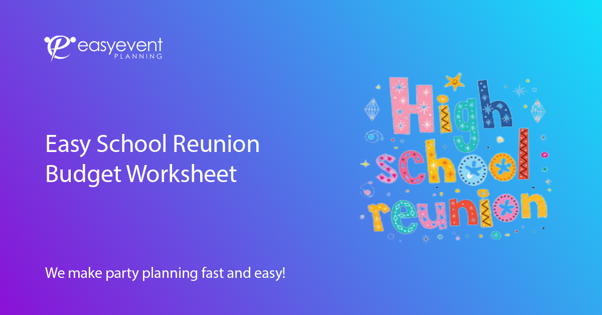 School Reunion Budget Worksheet