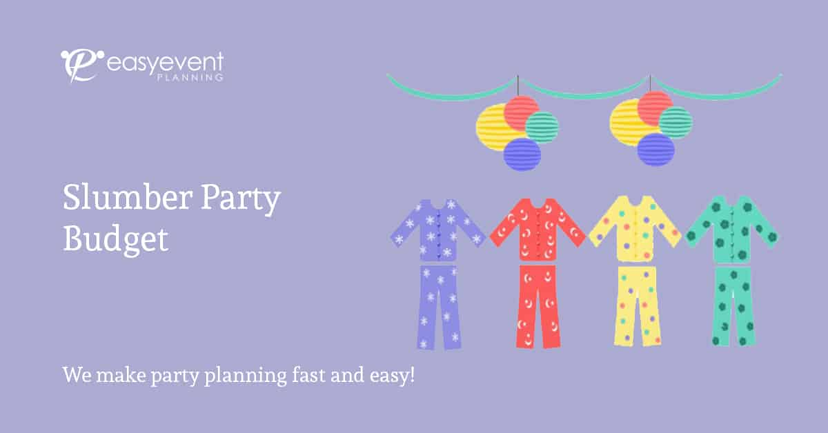 Easy Slumber Party Budget Worksheet