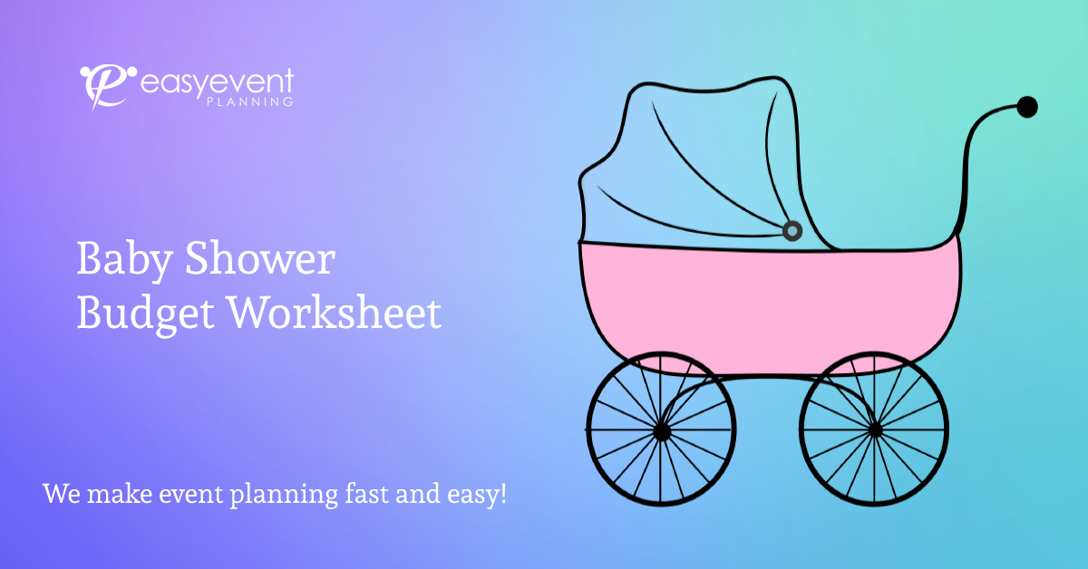 baby shower budget worksheet