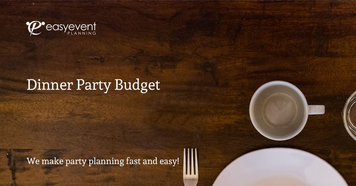 Dinner Party Budget Worksheet
