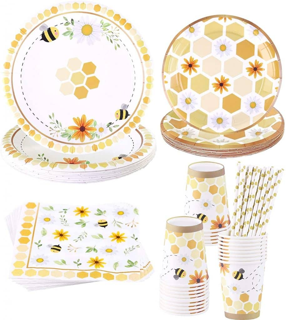 bee baby shower party supplies