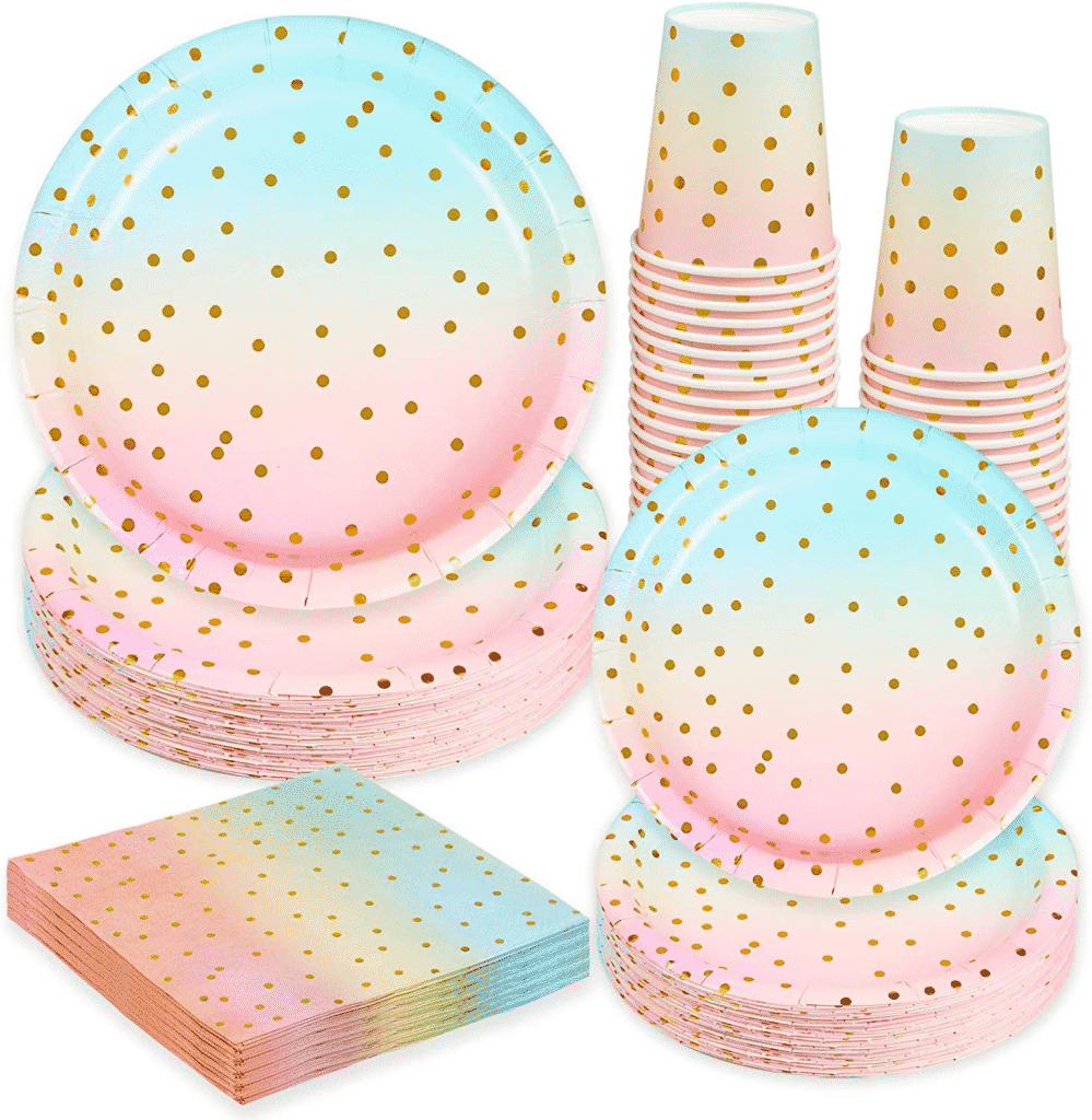 rainbow baby shower party supplies