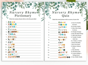 Rustic Baby Shower Games