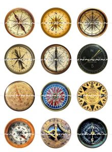 Compasses Magnets Pins Party Favors