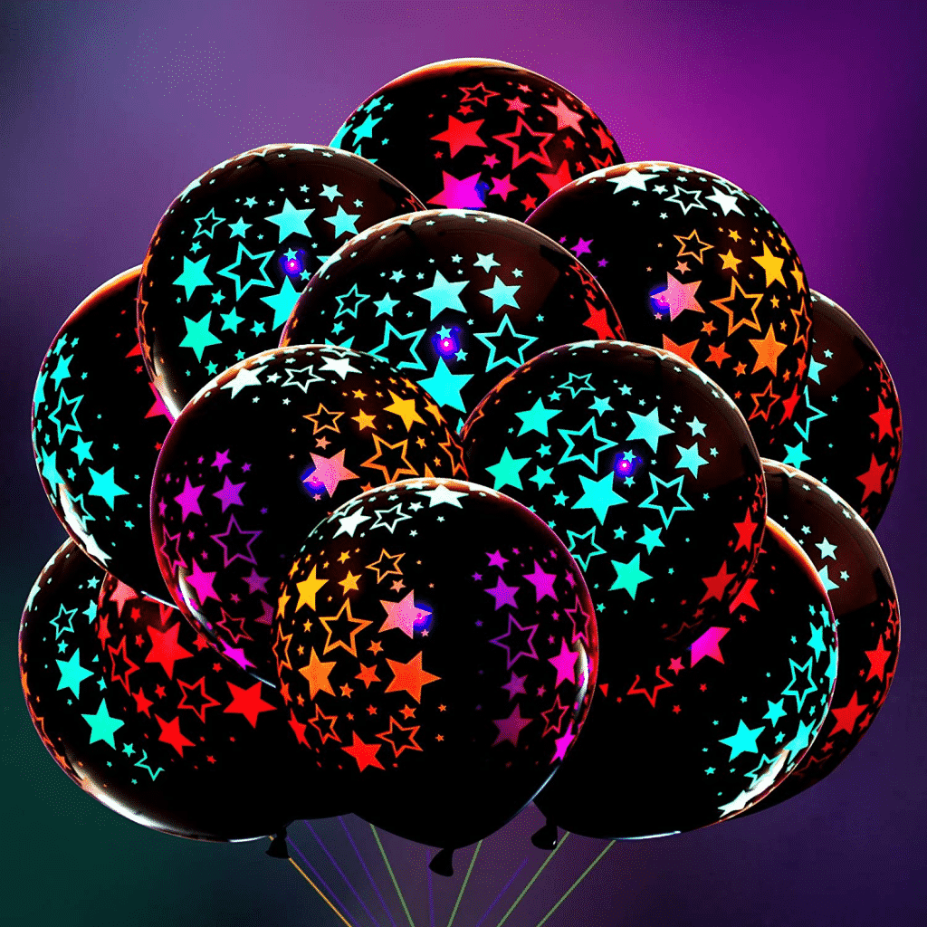 Glow in the Dark Theme Party Decorations