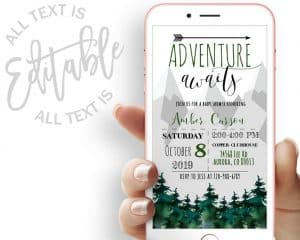 Adventure Awaits Baby Shower Evite