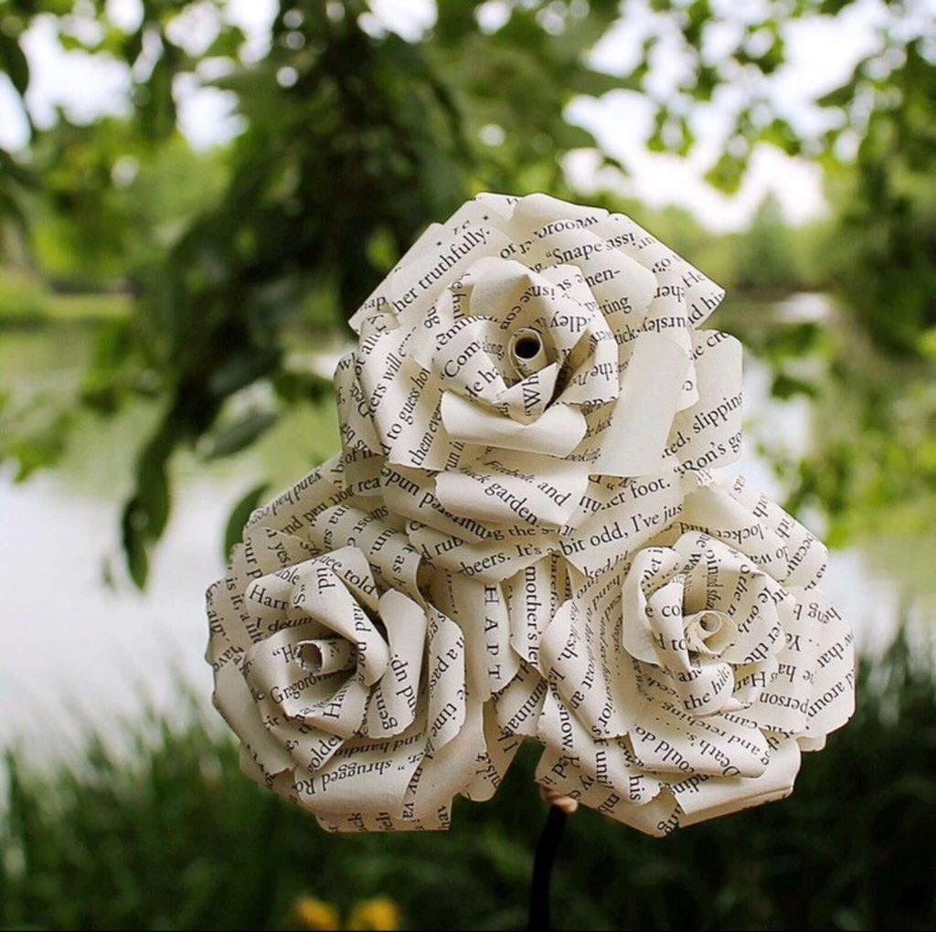 book-themed-baby-shower-decorations-book-page-paper-flowers
