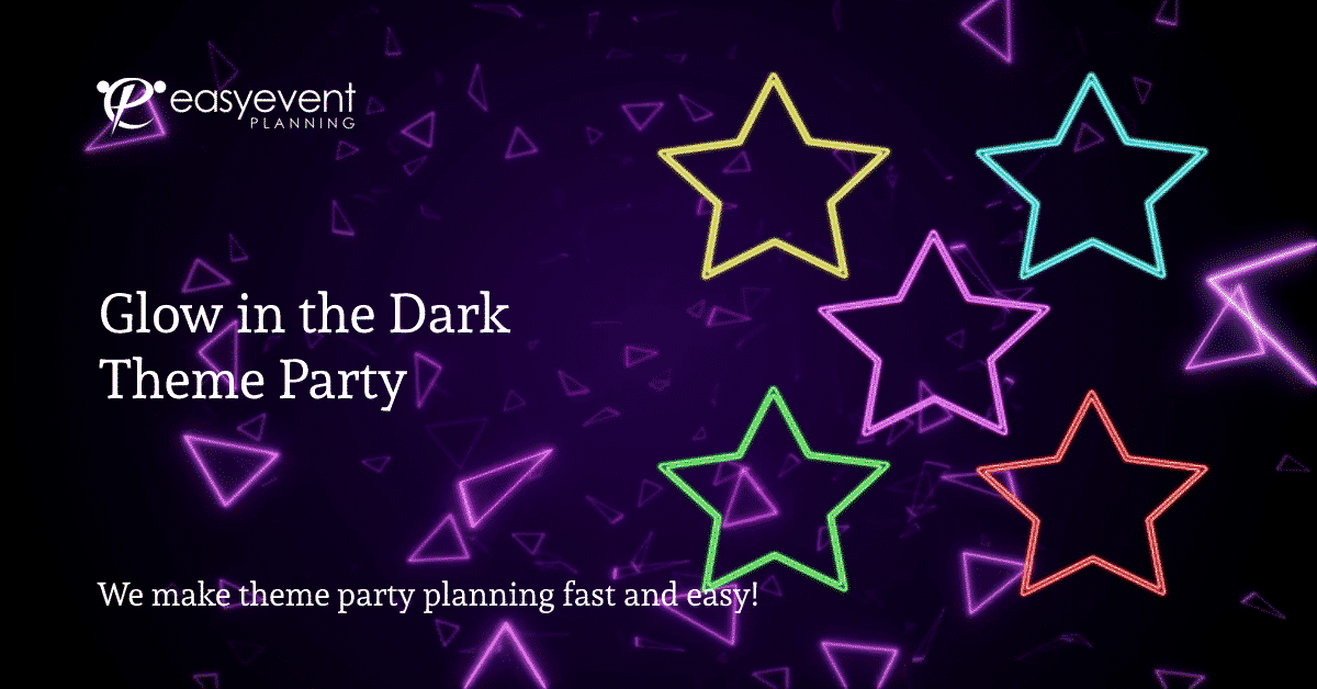 glow in the dark theme party image