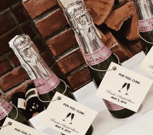 wine tasting party favors: mini bottles