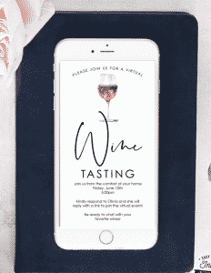 wine tasting party invitations: virtual wine tasting