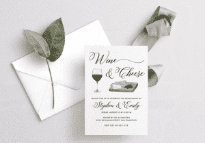 wine tasting party invitations: wine and cheese invitation