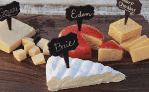 wine tasting party supplies: cheese markers