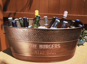 wine tasting party supplies: ice bucket
