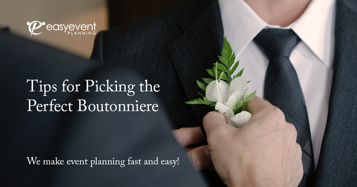 5 Tips for Picking the Perfect Boutonniere